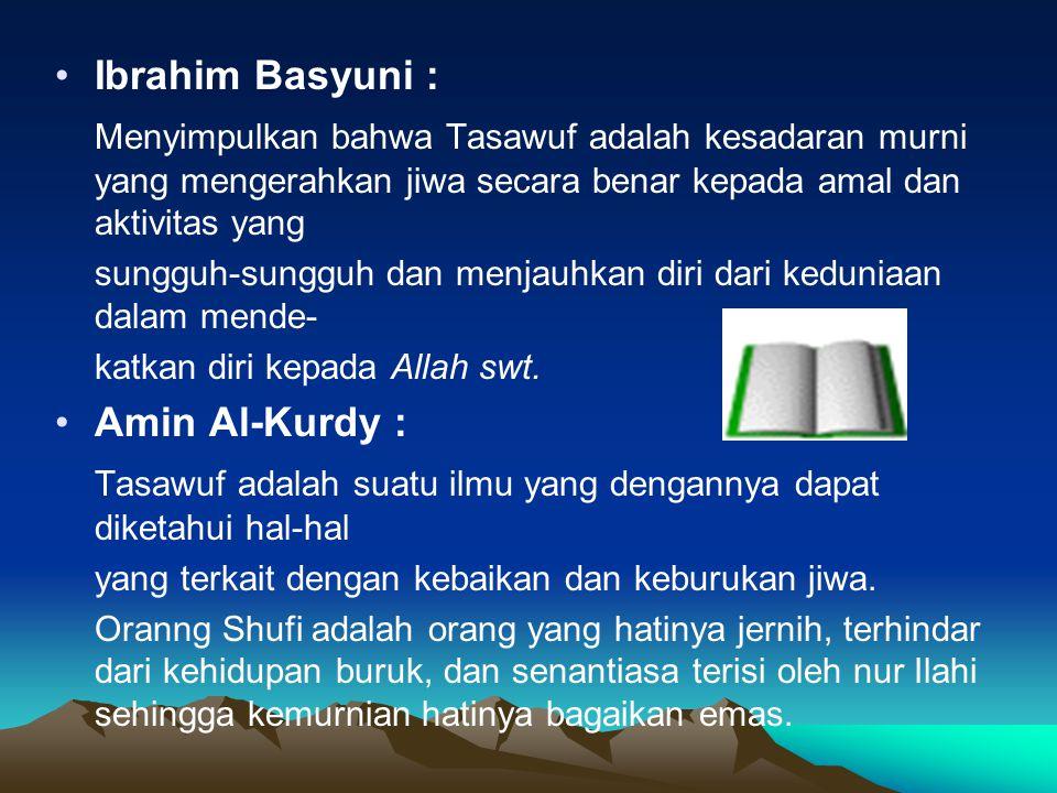 Ajaran Pokok Tasawuf Proses penyucian jiwa dan pendekatan diri kepada Allah swt.