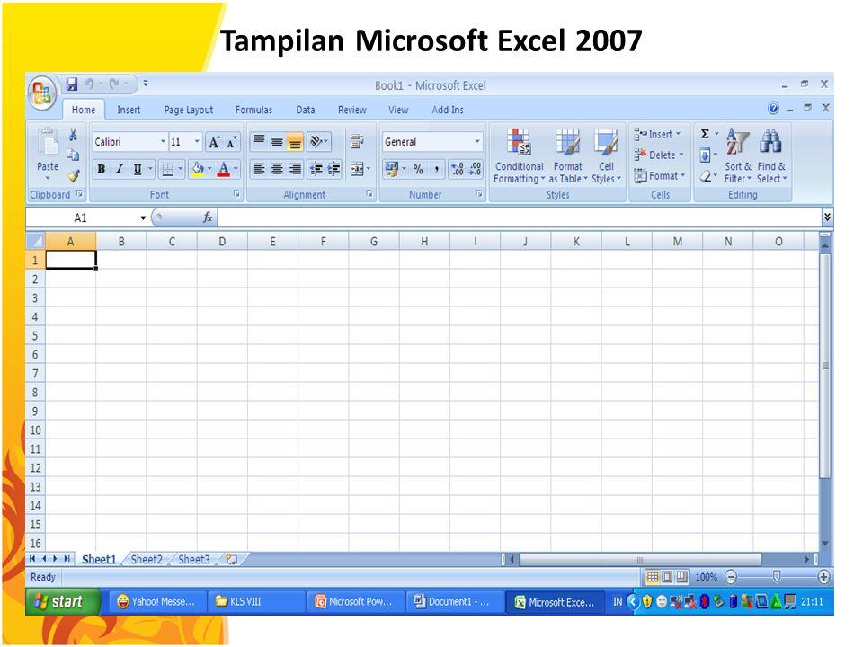 Tampilan Microsoft Excel 2007