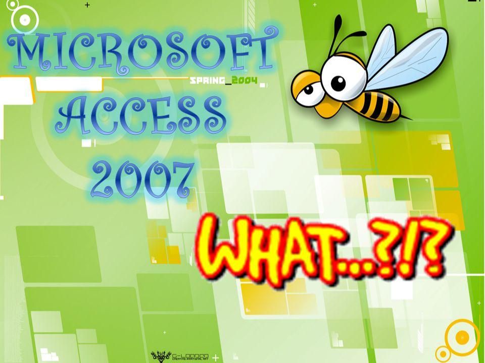 Pengenalan Microsoft Access 2007 Microsoft Access (atau Microsoft Office Access) adalah sebuah program aplikasi basis data komputer relasional yang ditujukan untuk kalangan rumahan dan perusahaan kecil hingga menengah.