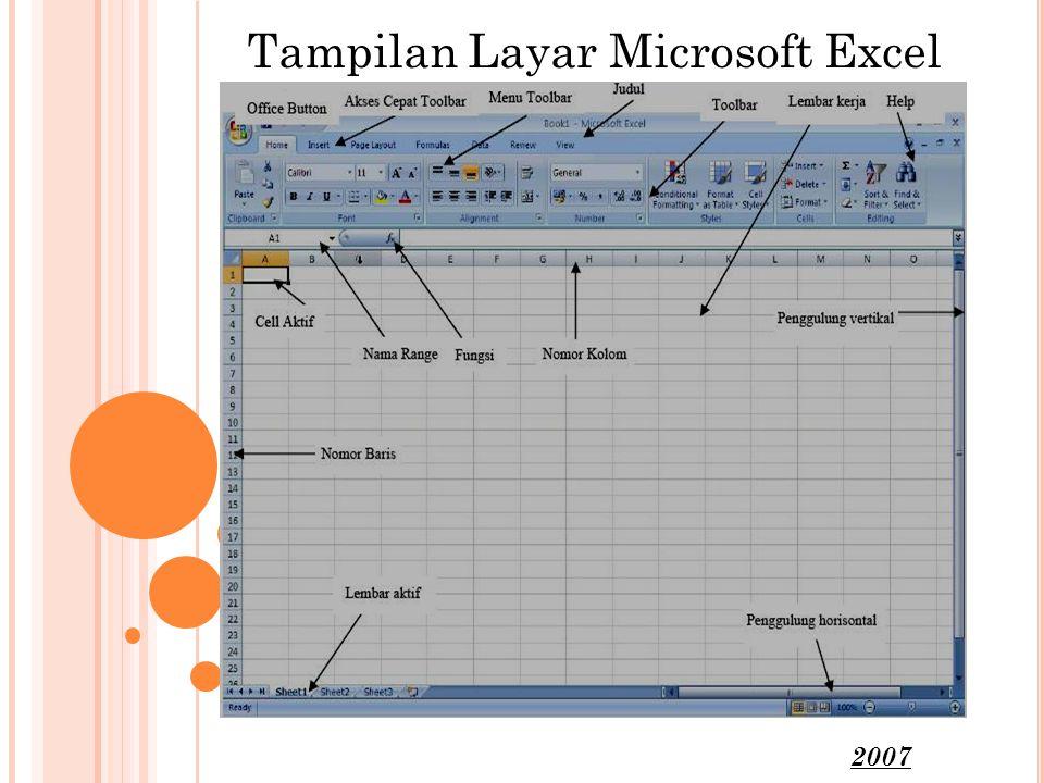 Tampilan Layar Microsoft Excel 2007