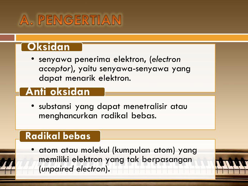 Apa itu oksidan dan anti oksidan ?
