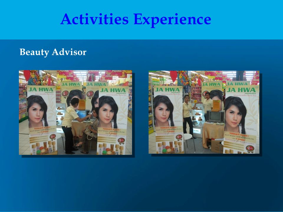 Beauty Advisor Activities Experience