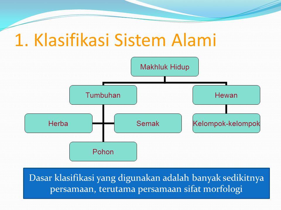 MACAM-MACAM KLASIFIKASI 1. Klasifikasi Sistem Alami 2. Klasifikasi Sistem Buatan 3. Klasifikasi Filogenetik