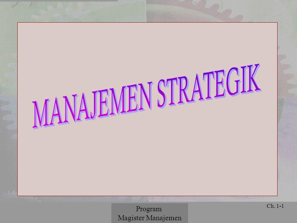 © 2001 Prentice Hall Ch. 1-1 Program Magister Manajemen