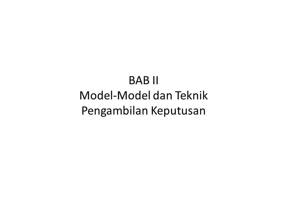 BAB II Model-Model dan Teknik Pengambilan Keputusan