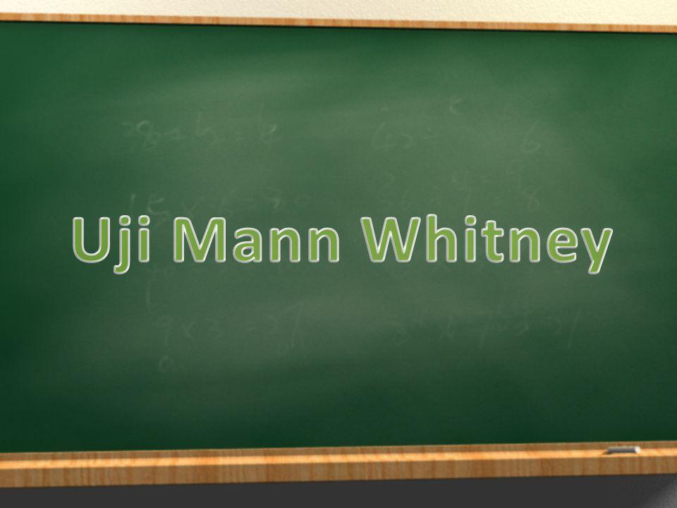 Apa itu Uji Mann Whitney.