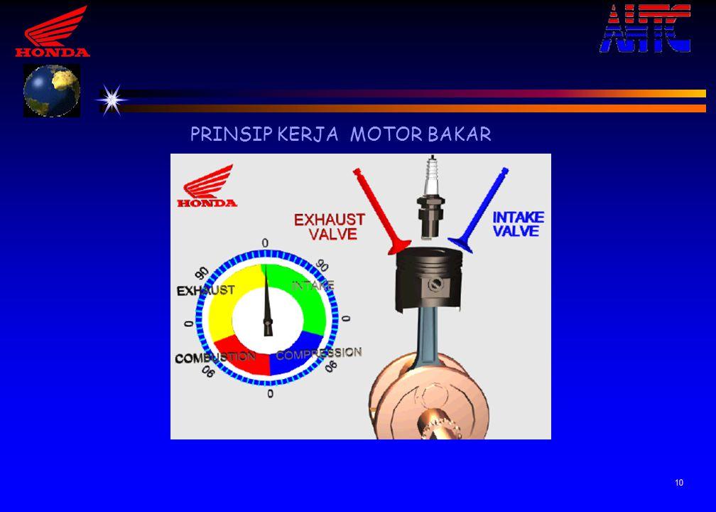 9 Mesin 4 langkah Mesin 2 langkah Siklus Satu siklus terdapat 4 kali langkah piston, 2 ke atas dan 2 ke bawah Satu siklus terdapat 2 kali langkah pist