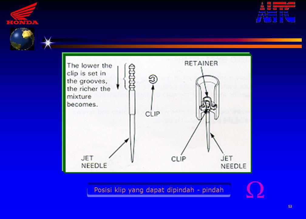 52 Posisi jet needle terhadap main jet 