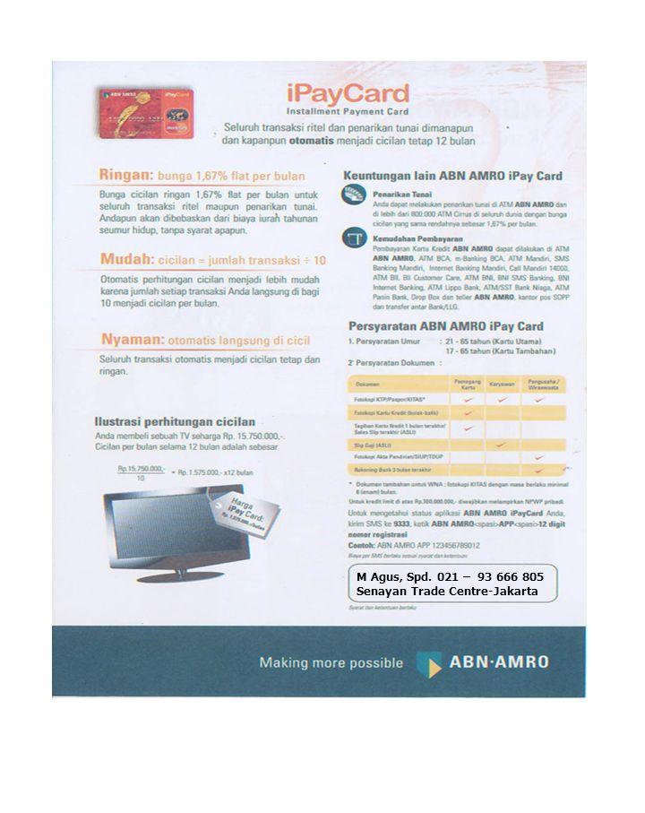 ABN AMRO I Travel Card Memberi anda kemudahan penawaran revolusioner setiap kali anda bepergian .