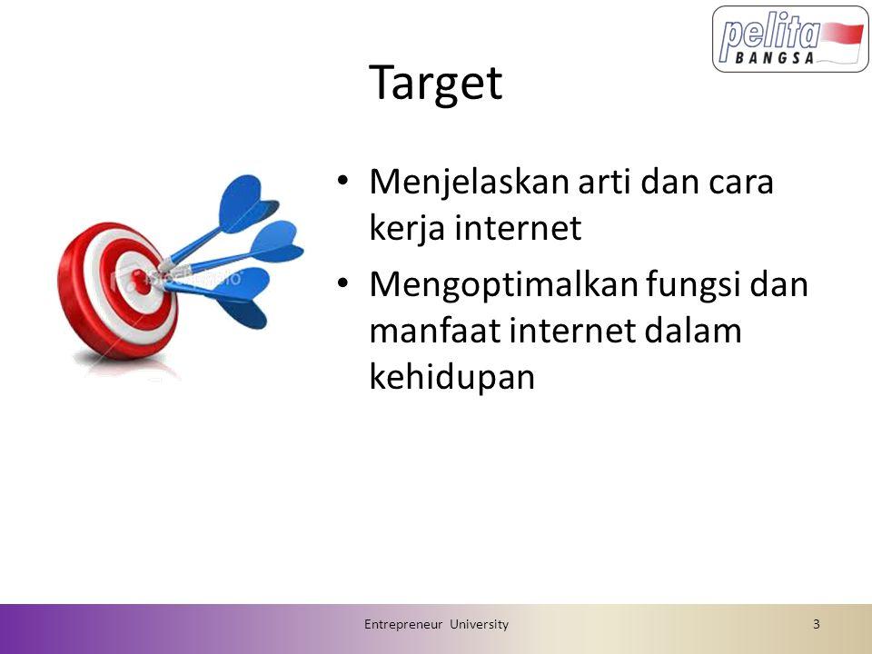 Agenda MK Internet 1.Overview MK Internet1 x 2.Internet2 x 3.E-Commerce2 x 4.Teknologi Transaksi Online1 x 5.UTS1 x 6.Presentasi Makalah1 x 7.Keamanan Sistem E-Commerce2 x 8.Cybercrime1 x 9.HAKI (Hak Kekayaan Intelektual)2 x 10.UAS1 x Entrepreneur University4