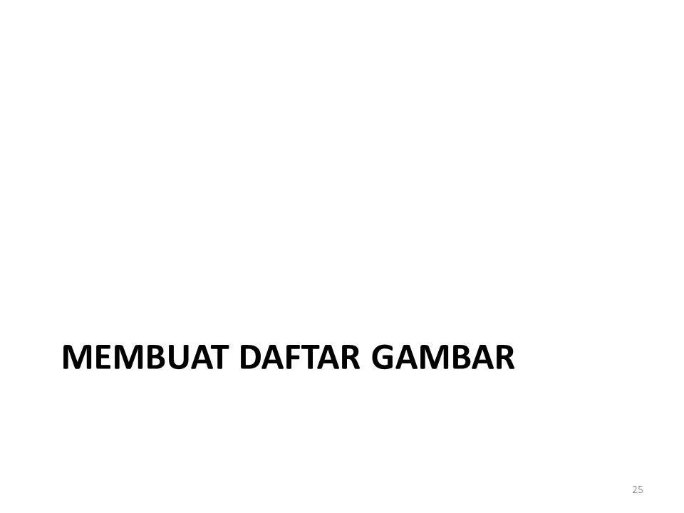 MEMBUAT DAFTAR GAMBAR 25