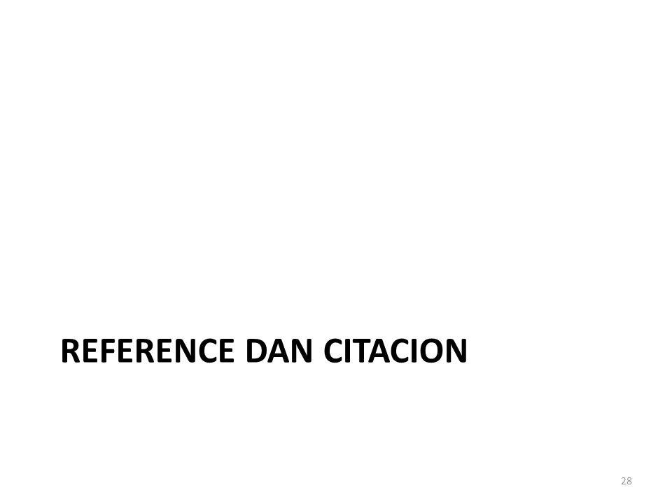 REFERENCE DAN CITACION 28