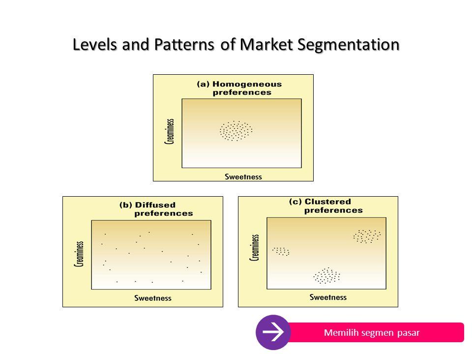 Levels and Patterns of Market Segmentation Memilih segmen pasar 