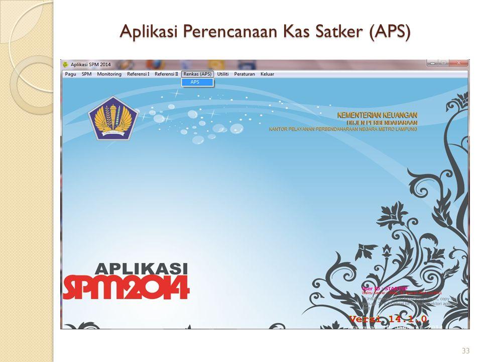 Aplikasi Perencanaan Kas Satker (APS) 33