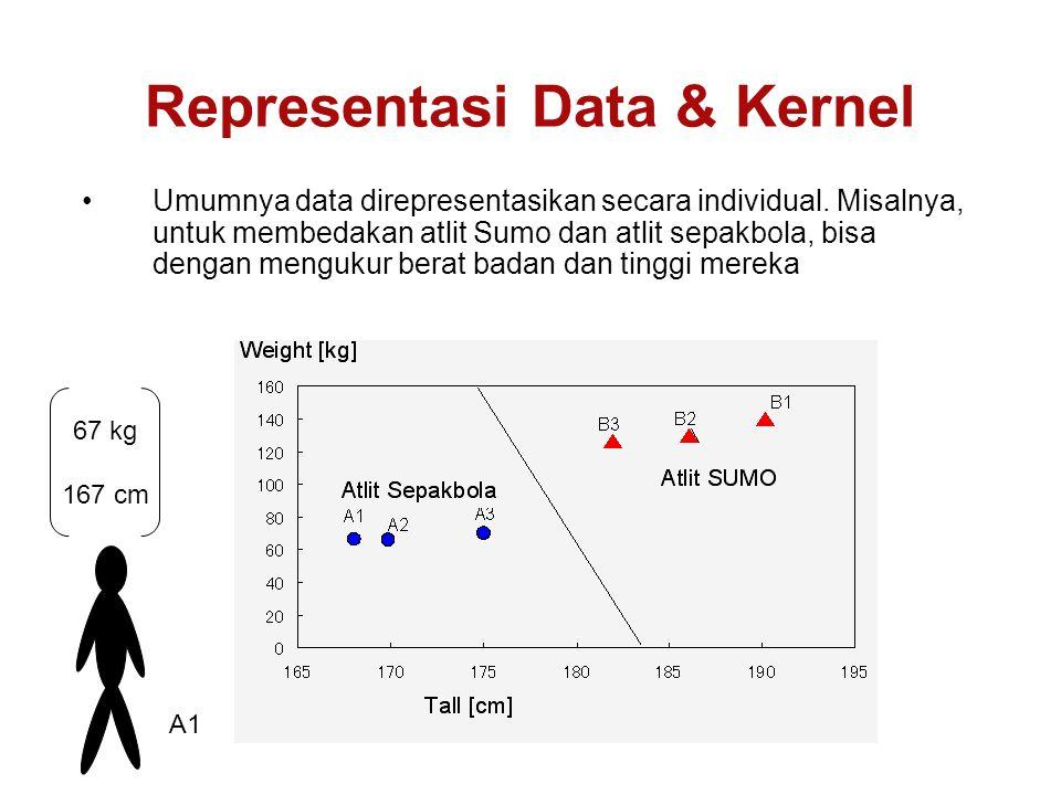 Umumnya data direpresentasikan secara individual.