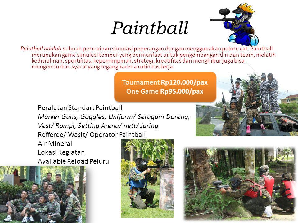 Paintball Paintball adalah sebuah permainan simulasi peperangan dengan menggunakan peluru cat. Paintball merupakan game simulasi tempur yang bermanfaa