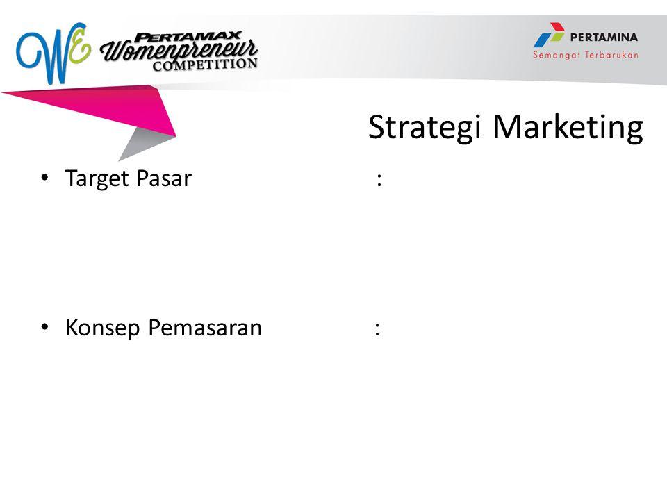 Strategi Marketing Target Pasar : Konsep Pemasaran: