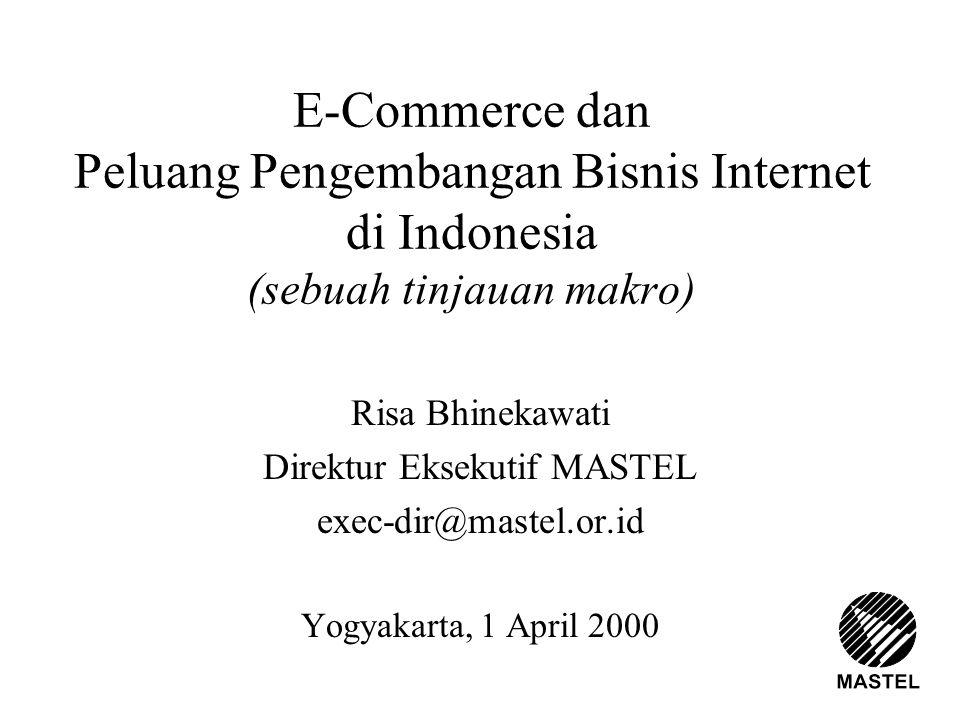E-Commerce dan Peluang Pengembangan Bisnis Internet di Indonesia (sebuah tinjauan makro) Risa Bhinekawati Direktur Eksekutif MASTEL exec-dir@mastel.or