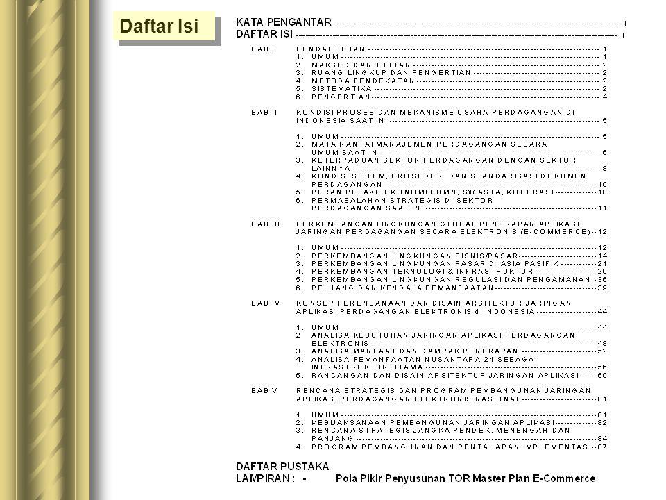 Pola Pikir Penyusunan TOR Master Plan E-Commerce Pola Pikir Penyusunan TOR Master Plan E-Commerce NUSANTARA-21 E-COMMERCE TRADITIONAL COMMERCE - Promo