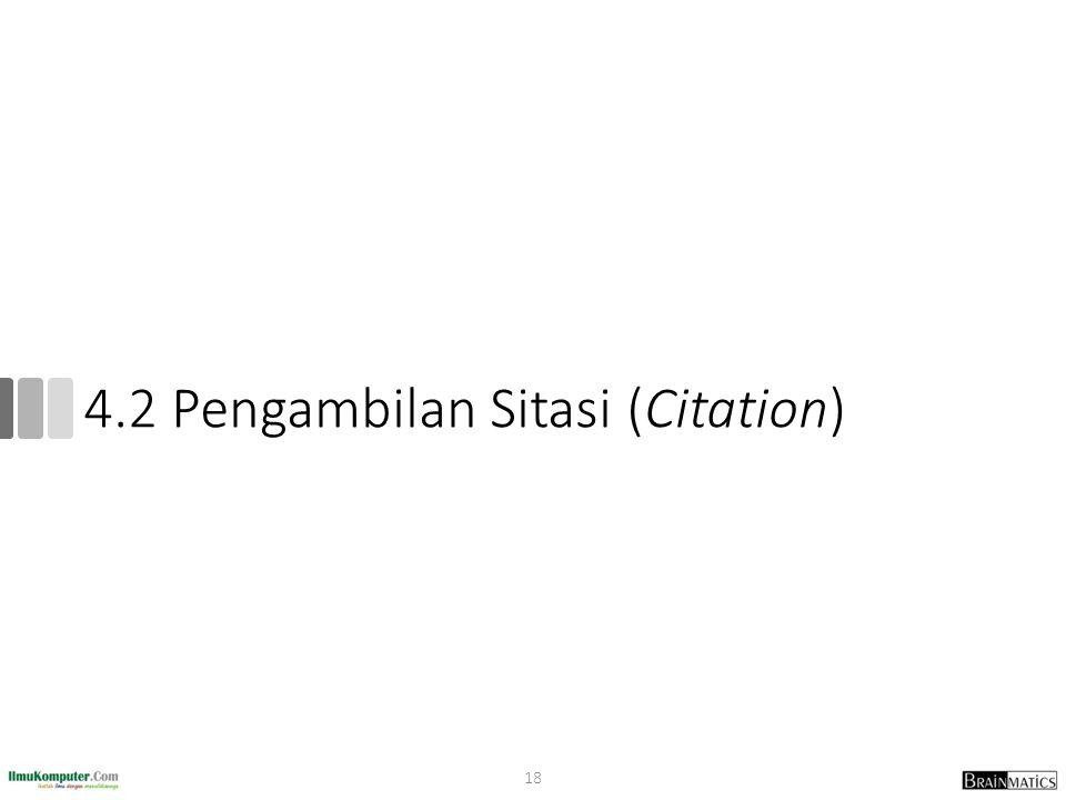 4.2 Pengambilan Sitasi (Citation) 18