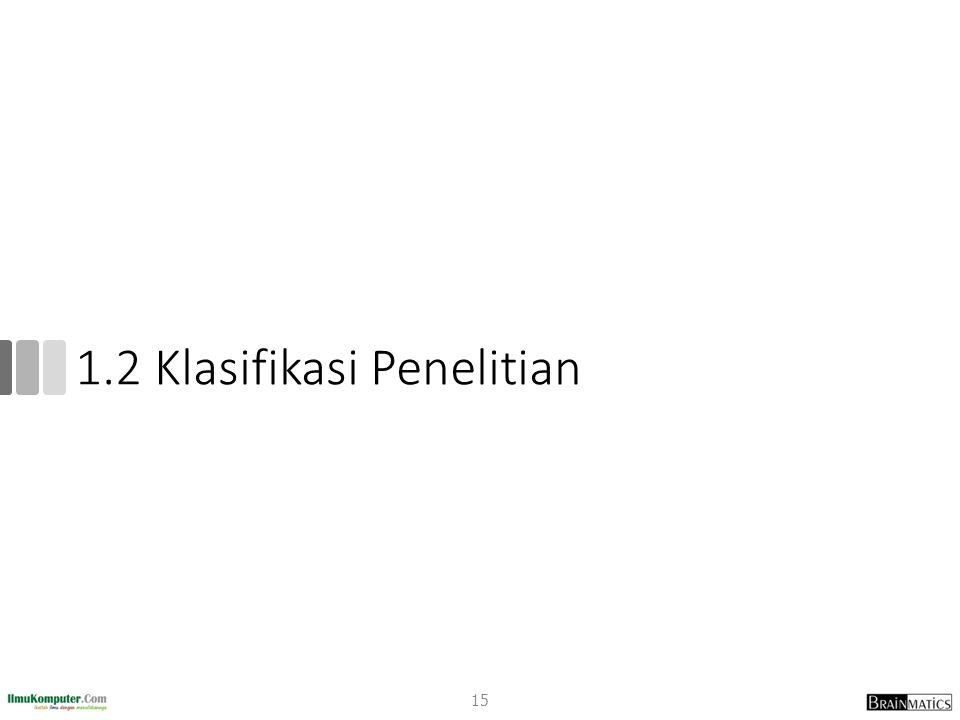 1.2 Klasifikasi Penelitian 15