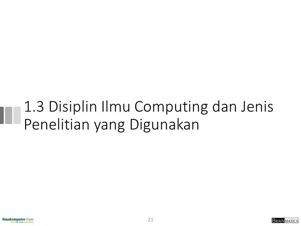 1.3 Disiplin Ilmu Computing dan Jenis Penelitian yang Digunakan 23