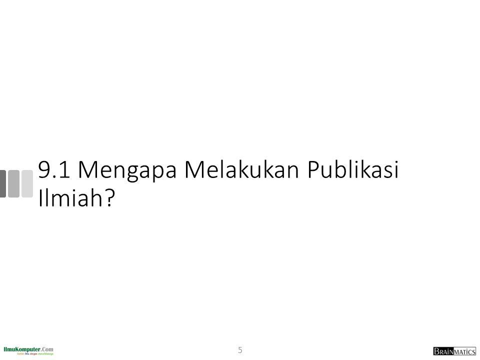 Mengapa Indonesia Sedikit Publikasi.