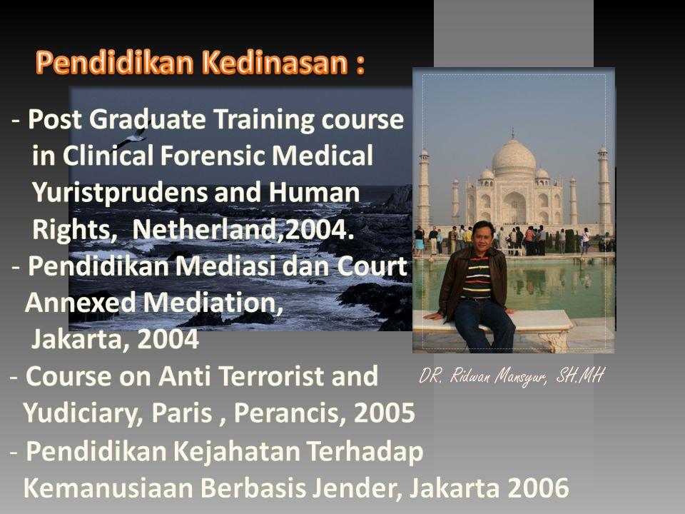 DR. Ridwan Mansyur, SH.MH