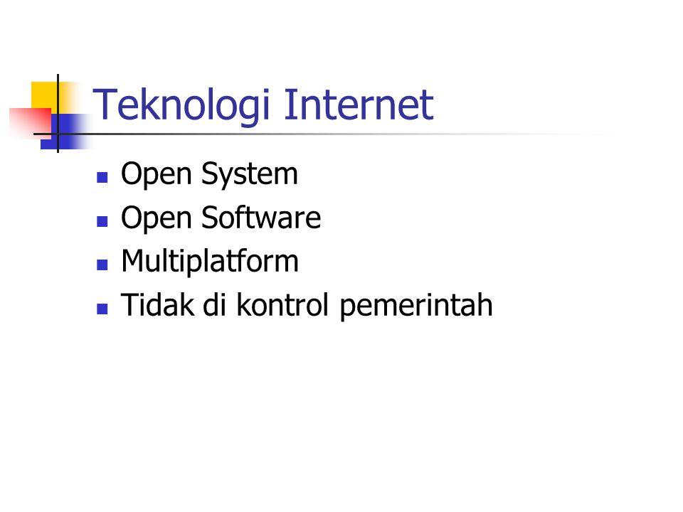 Open System Open Software Multiplatform Tidak di kontrol pemerintah