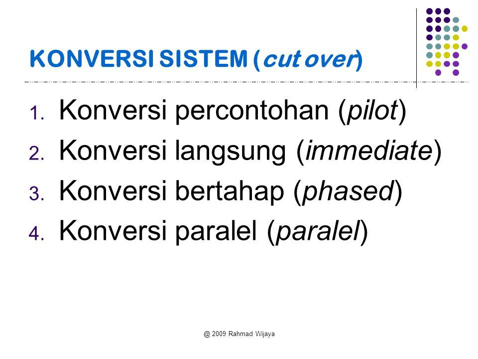 @ 2009 Rahmad Wijaya KONVERSI SISTEM (cut over) 1.