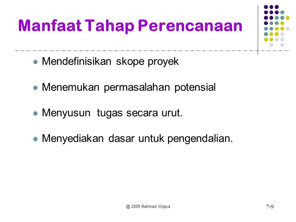 @ 2009 Rahmad Wijaya Tahap-tahap Perencanaan Sistem (1) 1.