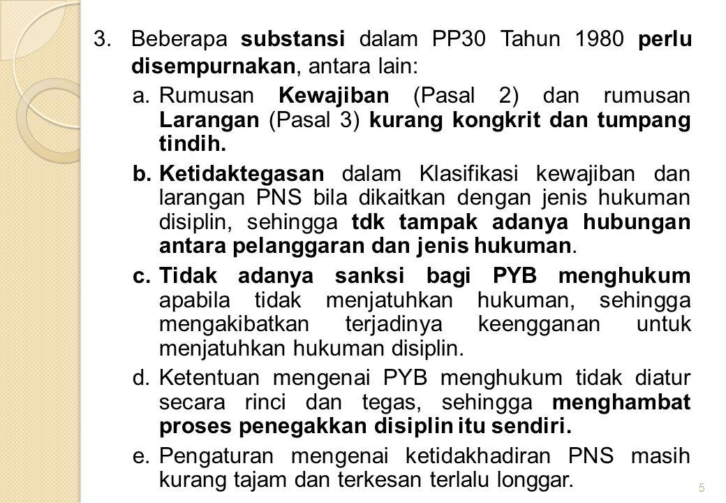 6 BAB ISI / CONTENT I KETENTUAN UMUM2 Pasal (Pasal 1 dengan 8 item dan Pasal 2) II KEWAJIBAN DAN LARANGAN Bagian KesatuKewajiban1 Pasal dengan 17 item (Pasal 3) Bagian KeduaLarangan1 Pasal dengan 15 item (Pasal 4) III HUKUMAN DISIPLIN Bagian KesatuUmum2 Pasal (Pasal 5 dan 6) Bagian KeduaTingkat dan Jenis Hukuman Disiplin1 Pasal (Pasal 7) dengan 4 ayat Bagian KetigaPelanggaran dan Jenis Hukuman a.Paragraf 1Pelanggaran Terhadap Kewajiban3 Pasal (Pasal 8, 9, dan 10) a.Paragraf 2Pelanggaran Terhadap Larangan4 Pasal (Pasal 11, 12, 13, dan 14) Bagian Keempat Pejabat yang Berwenang Menghukum8 Pasal (Pasal 15, 16, 17, 18, 19, 20, 21, dan 22) Bagian KelimaTata Cara Pemanggilan, Pemeriksaan, Penjatuhan, dan Penyampaian Kepu- tusan Hukuman Disiplin 9 Pasal (Pasal 23, 24, 25, 26, 27, 28, 29, 30, dan 31) IV UPAYA ADMINISTRATIF11 Pasal (Pasal 32, 33, 34, 35, 36, 37, 38, 39, 40, 41, dan 42) V BERLAKUNYA HUKUMAN DISIPLIN DAN PENDOKU- MENTASIAN KEPUTUSAN HUKUMAN DISIPLIN Bagian KesatuBerlakunya Hukuman Disiplin4 Pasal (Pasal 43, 44, 45, dan 46) Bagian KeduaPendokumentasian Keputusan Hukum- an Disiplin 1 Pasal (Pasal 47) VI KETENTUAN PERALIHAN1 Pasal (Pasal 48) dengan 4 Ayat VII KETENTUAN PENUTUP3 Pasal (Pasal 49, 50, dan 51) Penjelasan