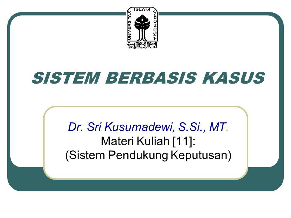 SISTEM BERBASIS KASUS Dr. Sri Kusumadewi, S.Si., MT. Materi Kuliah [11]: (Sistem Pendukung Keputusan)