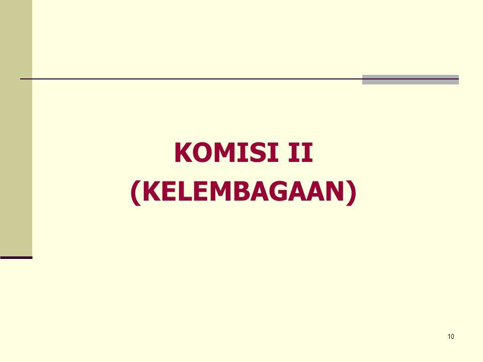 10 KOMISI II (KELEMBAGAAN)