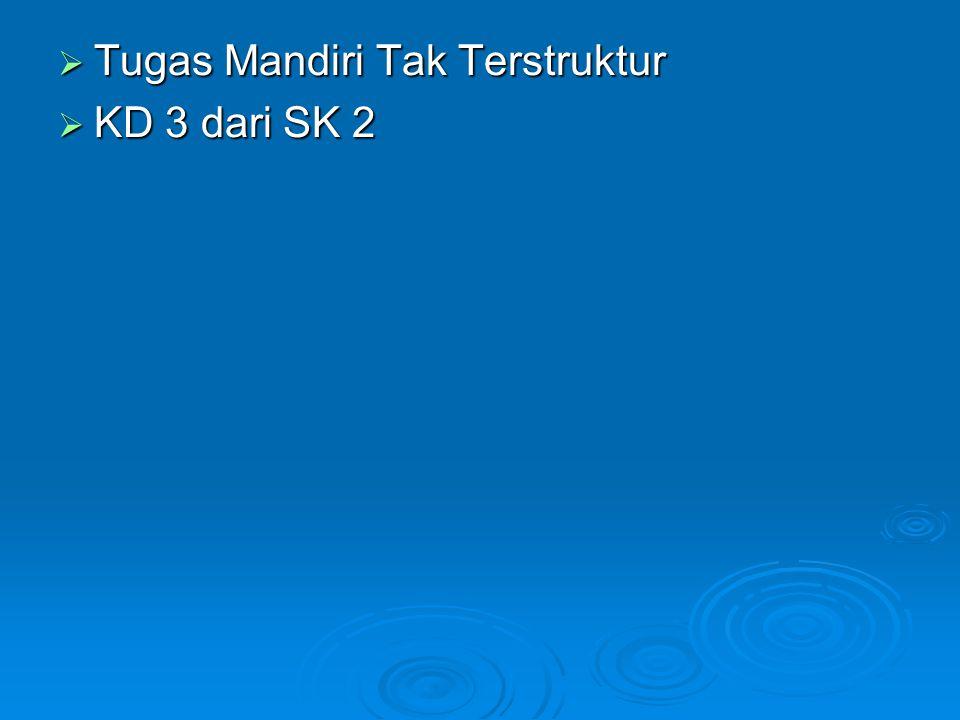  Tugas Mandiri Tak Terstruktur  KD 3 dari SK 2