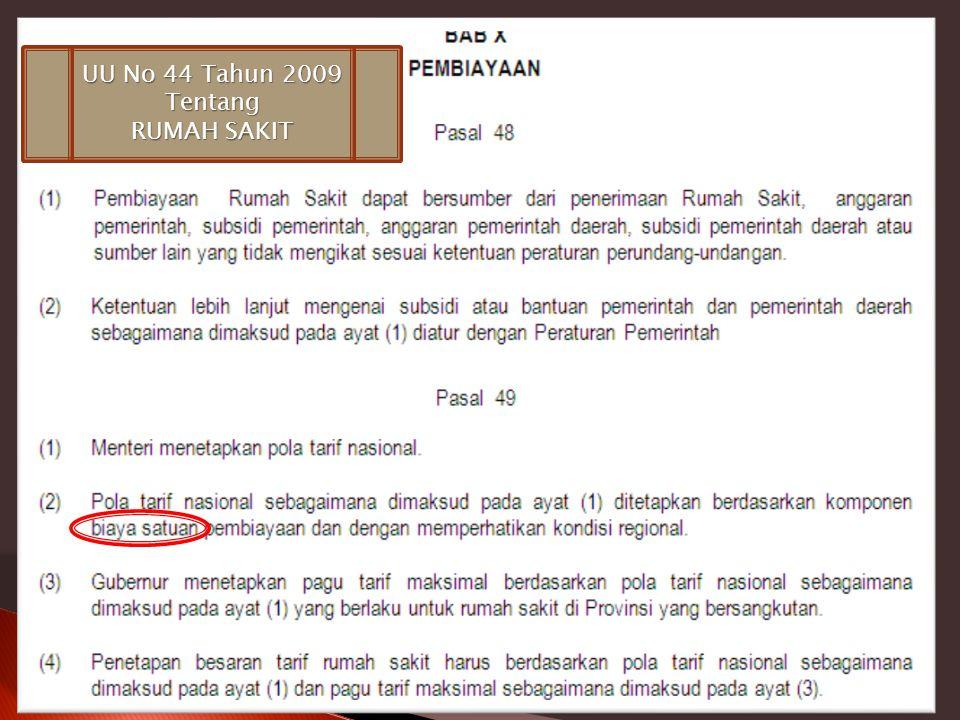 UU No 44 Tahun 2009 Tentang RUMAH SAKIT