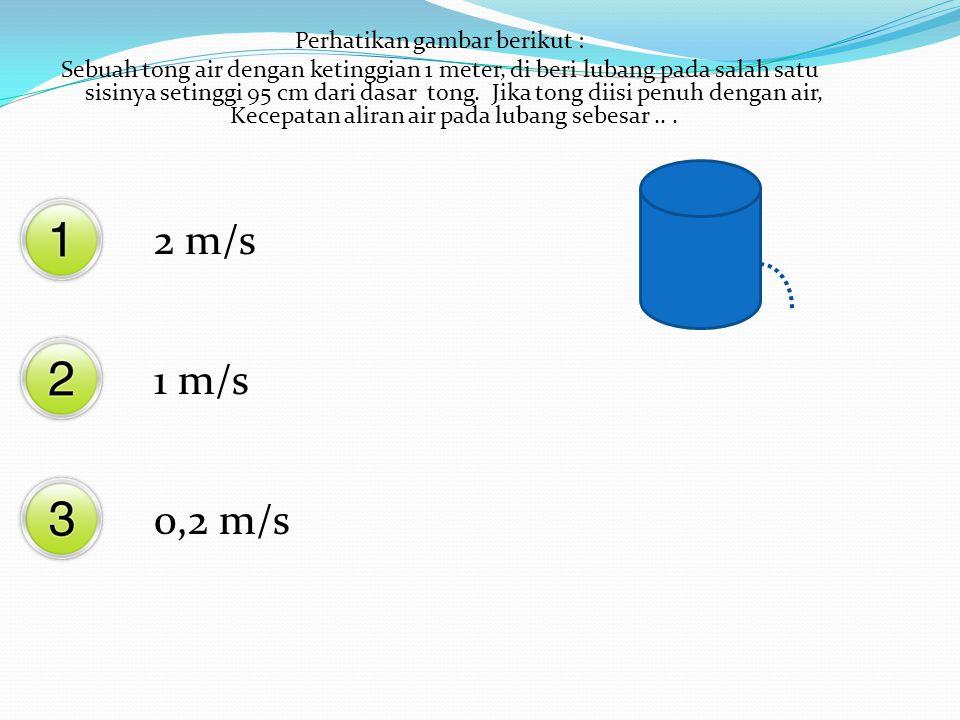 Jika suatu benda dimasukkan dalam air, maka berat benda didalam zat cair dibandingkan dengan berat benda diudara > = <