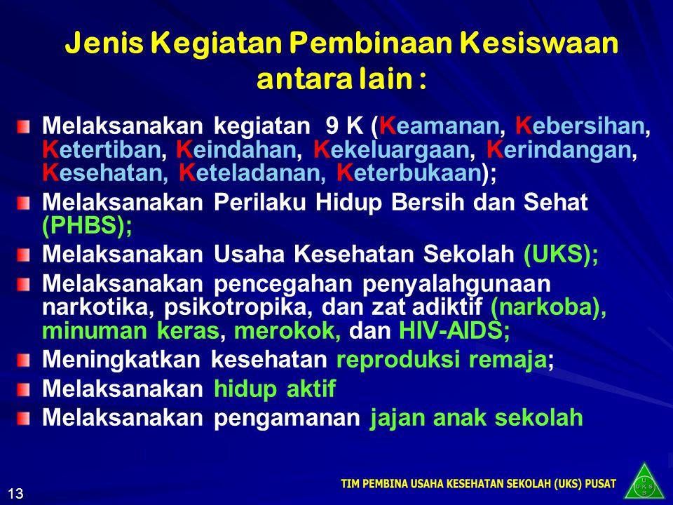 Peraturan Menteri Pendidikan Nasional Republik Indonesia Nomor: 39 Tahun 2008 tentang Pembinaan Kesiswaan 12