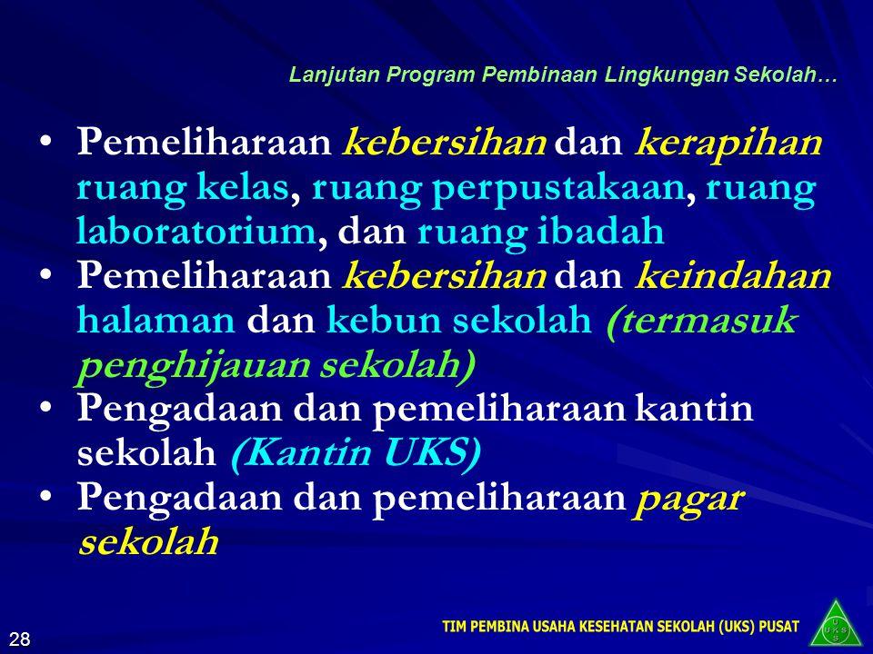 a.Program Pembinaan Lingkungan Sekolah 3.