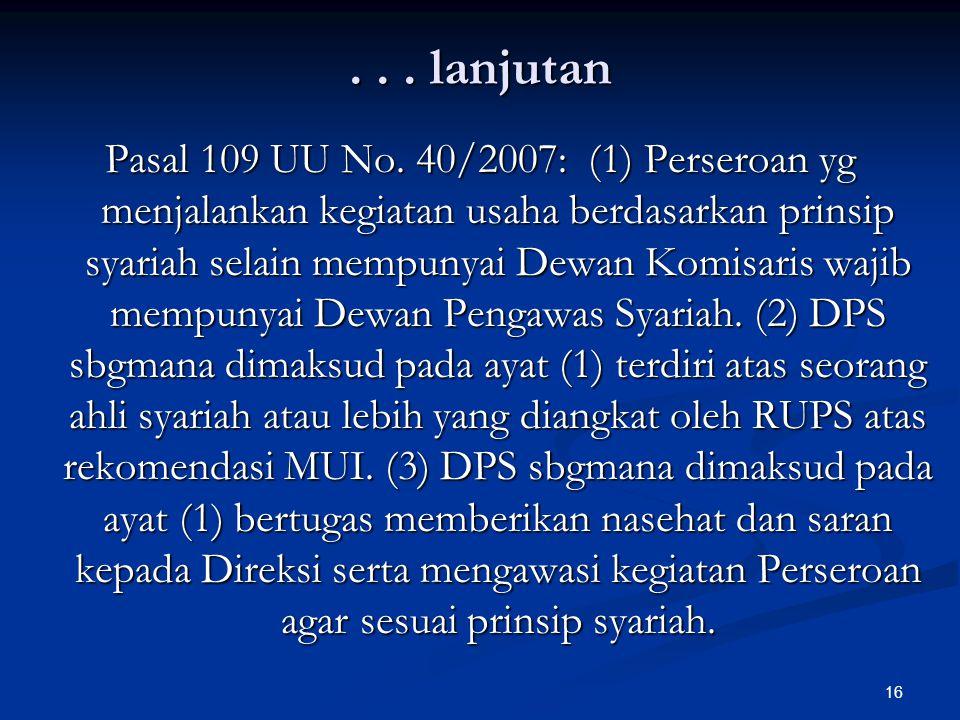 16... lanjutan Pasal 109 UU No.