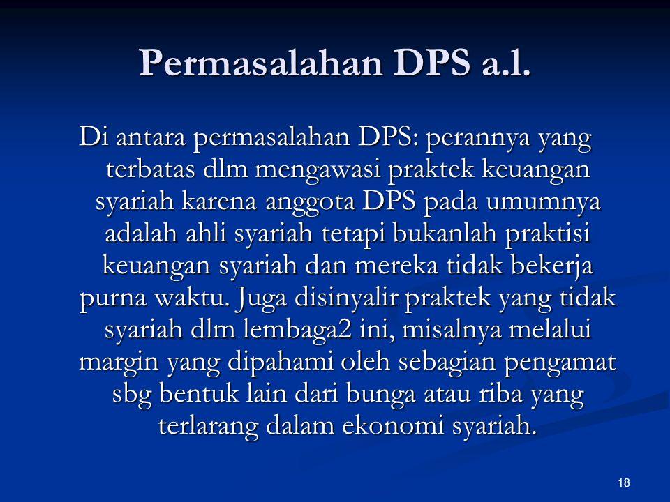 18 Permasalahan DPS a.l.