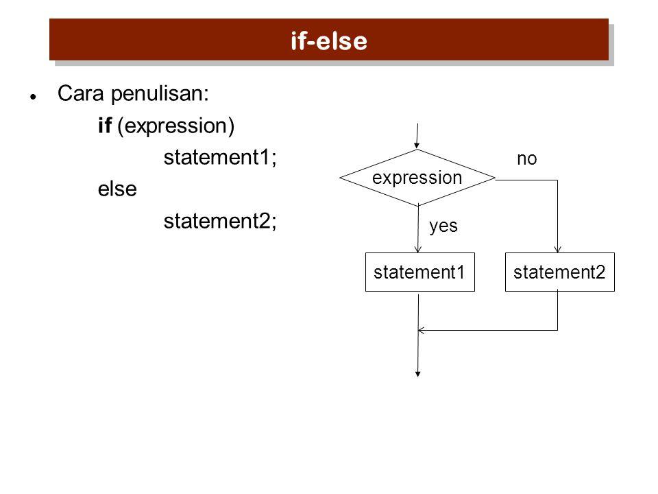 Struktur Kendali Pengulangan: for Cara penulisan: for ( [expr1]; [expr2]; [expr3] ) statement; expr1untuk inisialisasi expr2bila bernilai TRUE, kerjakan statement expr3menaikkan/menurunkan nilai pengendali expr2 expr1 statement no yes expr3