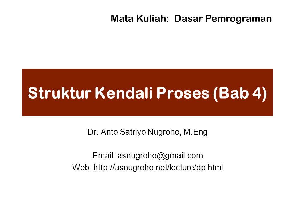Struktur Kendali Proses (Bab 4) Dr.
