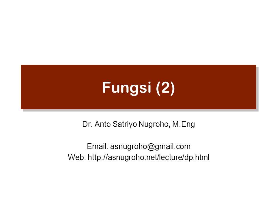 Fungsi (2) Dr.