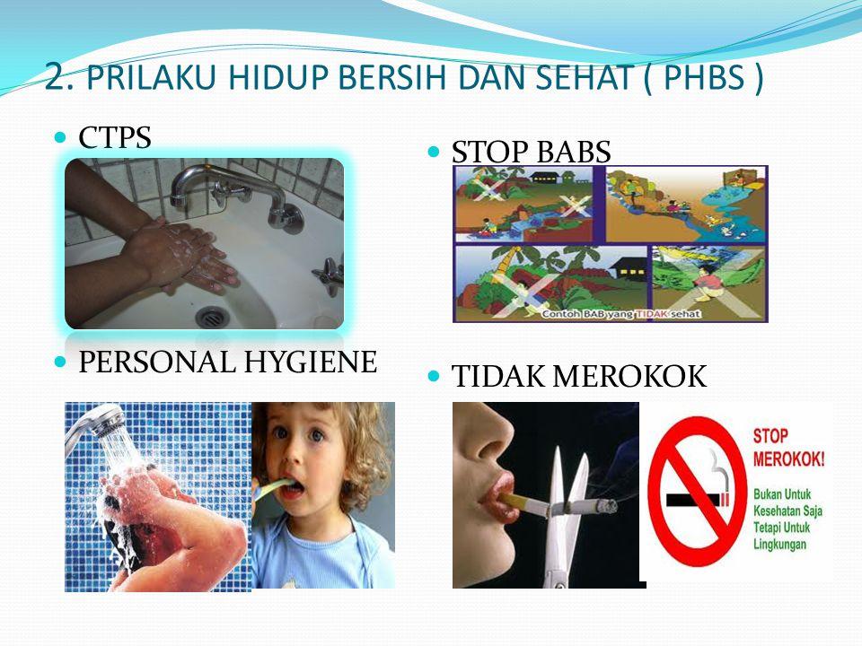2. PRILAKU HIDUP BERSIH DAN SEHAT ( PHBS ) CTPS PERSONAL HYGIENE STOP BABS TIDAK MEROKOK