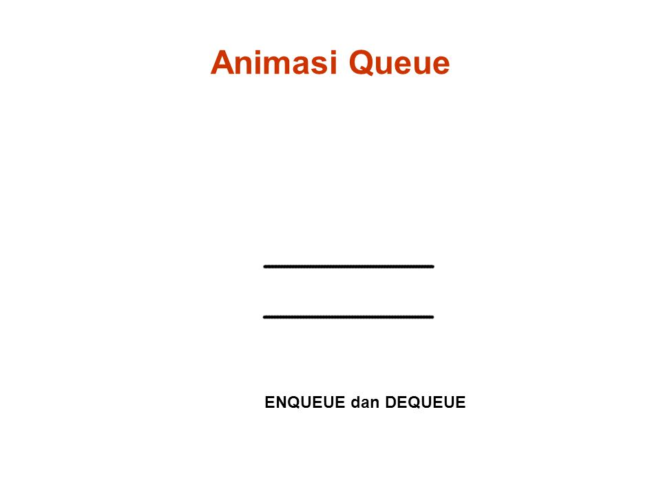 Animasi Queue ENQUEUE dan DEQUEUE