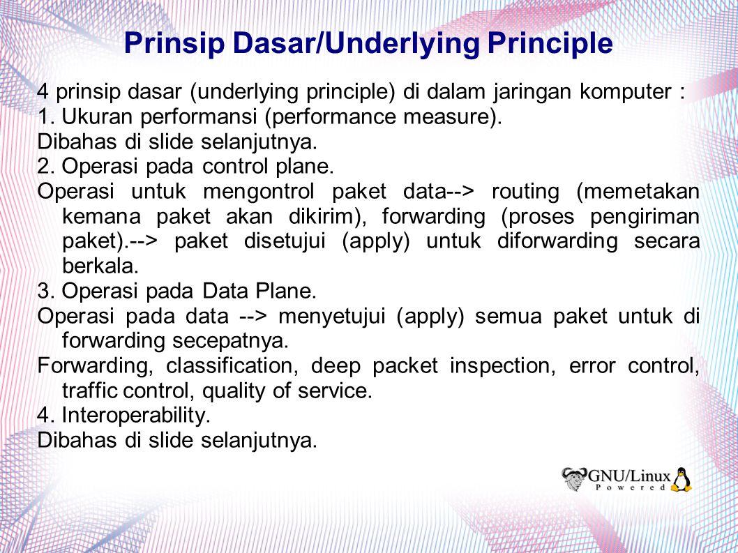 Performance Measure Ukuran performansi suatu jaringan komputer --> bandwith, throughput.