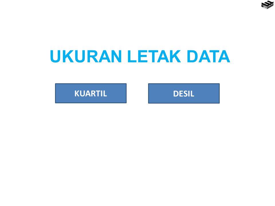 UKURAN LETAK DATA KUARTIL DESIL