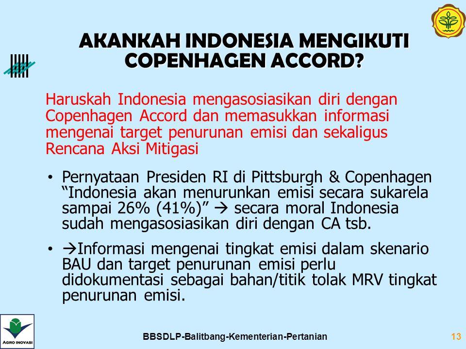 BBSDLP-Balitbang-Kementerian-Pertanian13 Haruskah Indonesia mengasosiasikan diri dengan Copenhagen Accord dan memasukkan informasi mengenai target pen