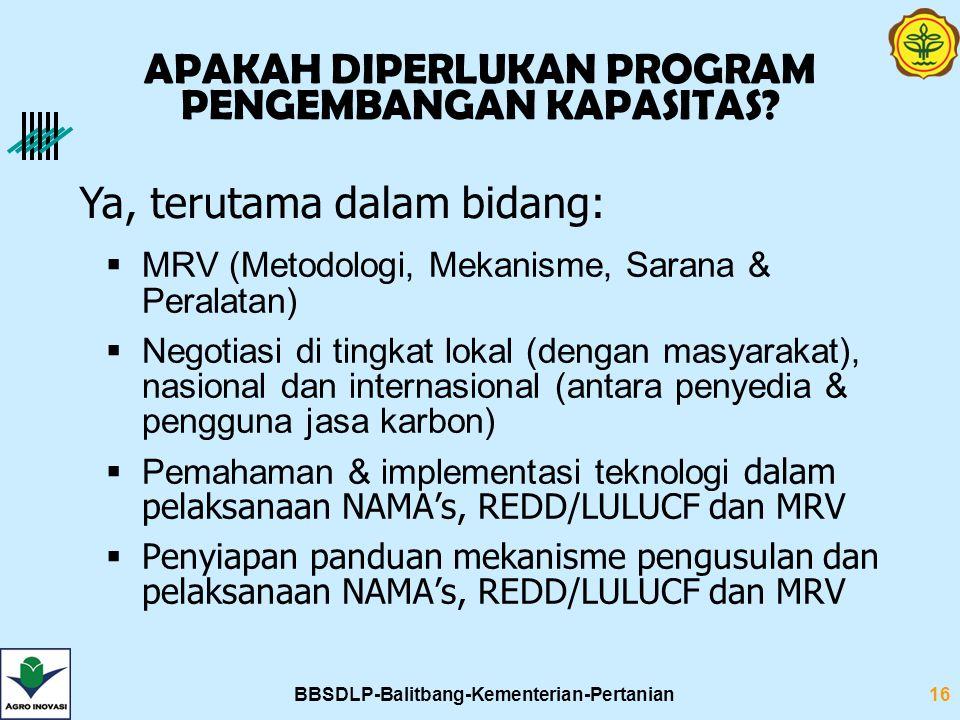 BBSDLP-Balitbang-Kementerian-Pertanian16 APAKAH DIPERLUKAN PROGRAM PENGEMBANGAN KAPASITAS.